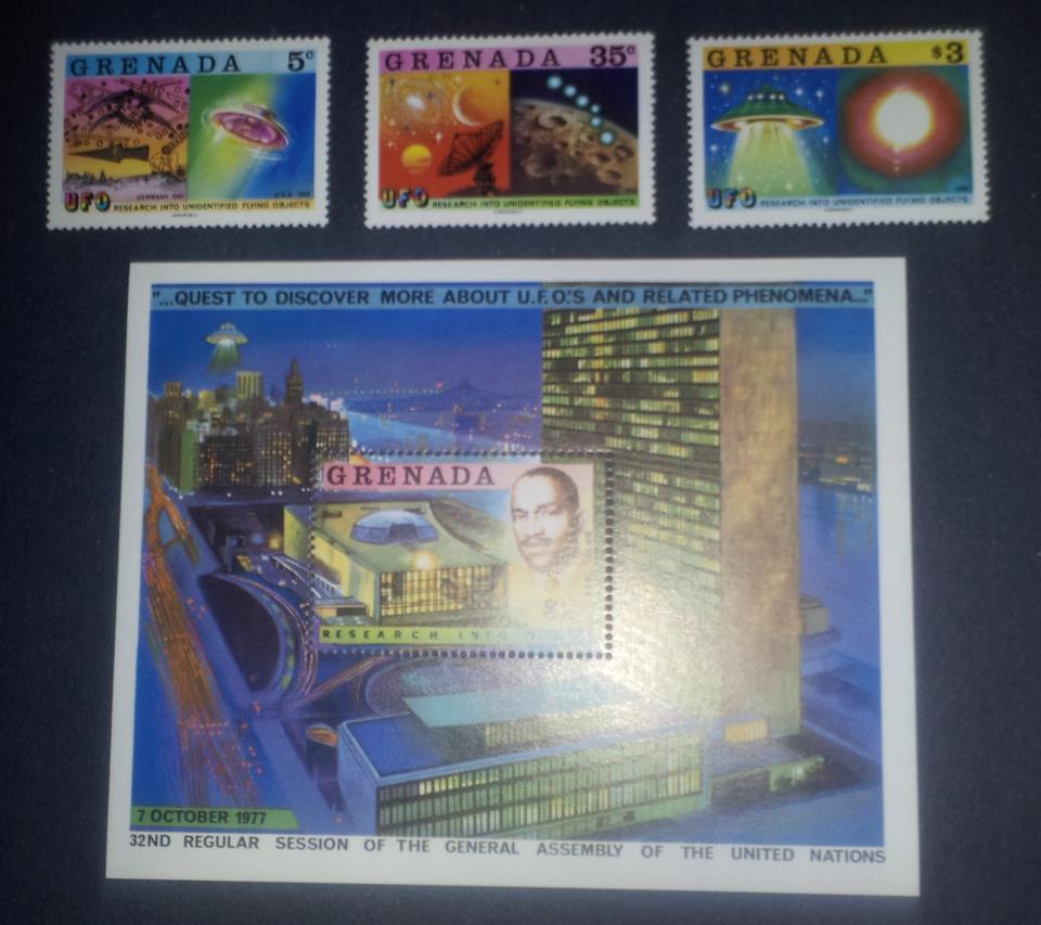 Grenada-UFO-Stamps